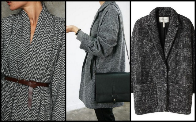 Coat la cam d 39 emy - Manteau coupe masculine pour femme ...